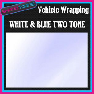 2M X 1524mm VEHICLE CAR VAN WRAP STYLING GRAPHICS WHITE & BLUE TWO TONE